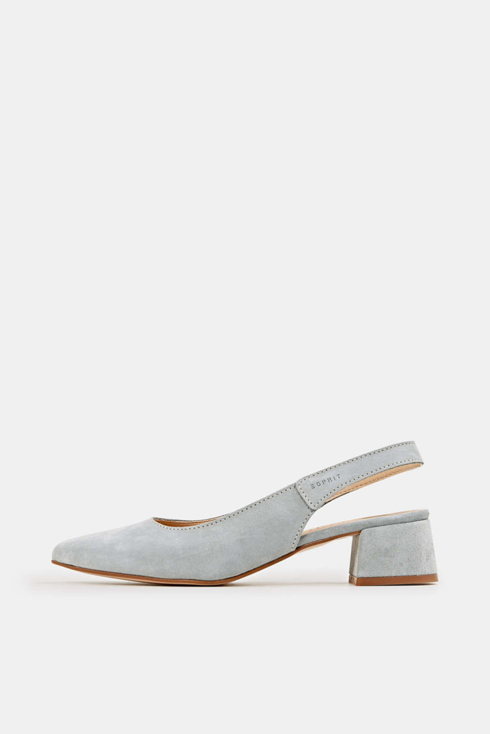 Esprit - Leather sling back court shoes