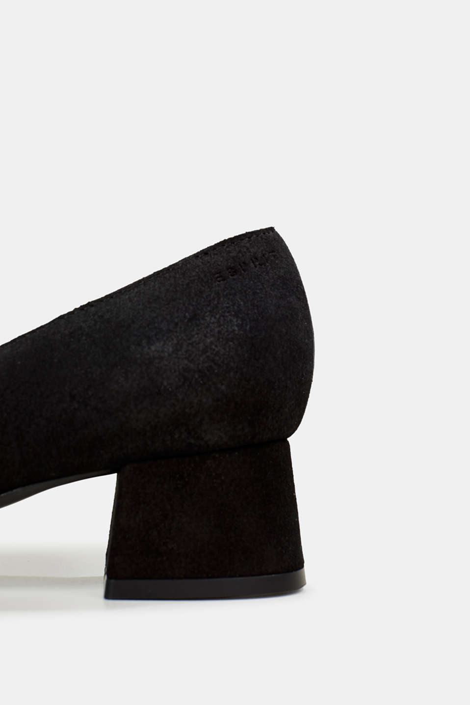 Square court shoes made of suede, BLACK, detail image number 4