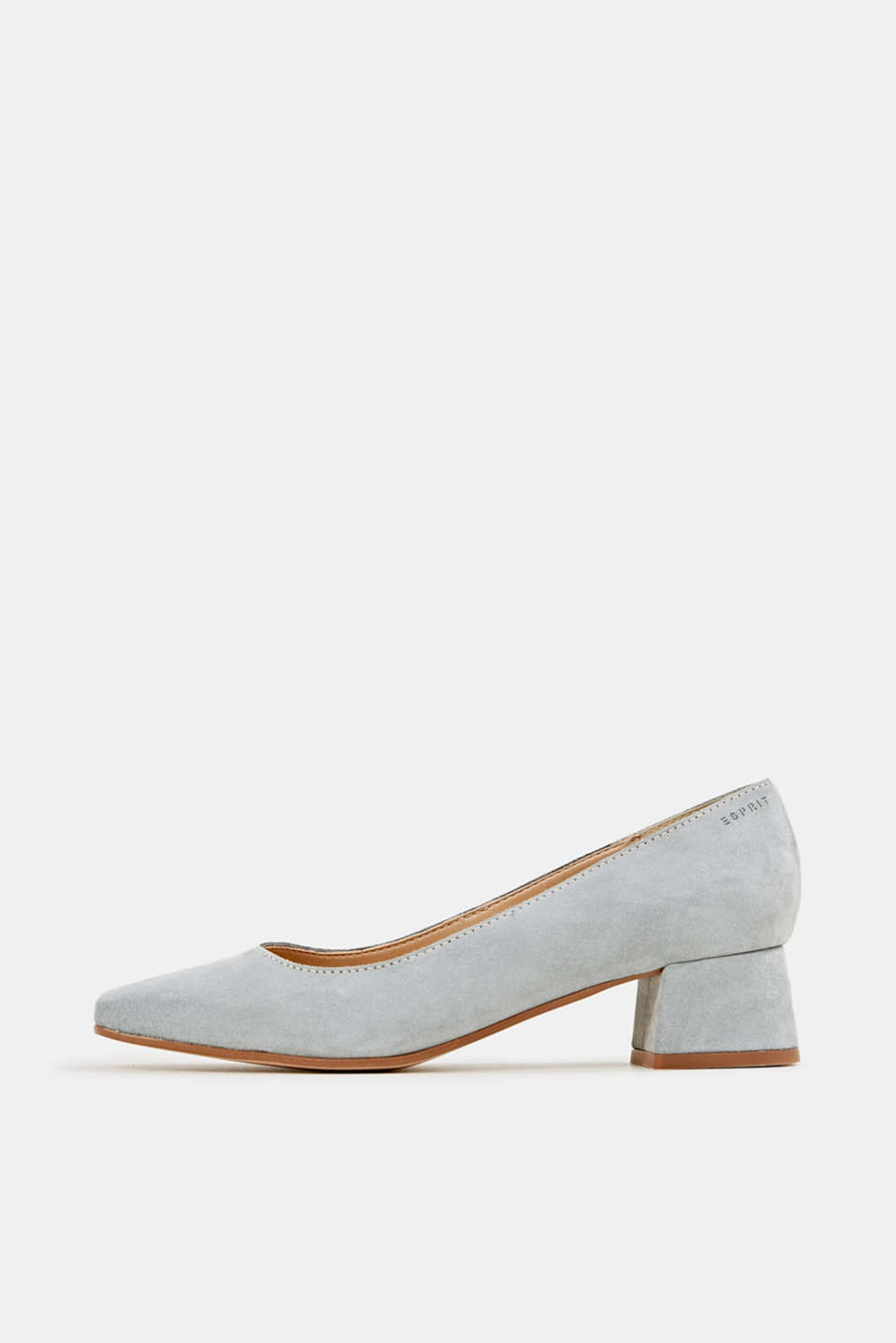 Esprit - Square court shoes made of suede
