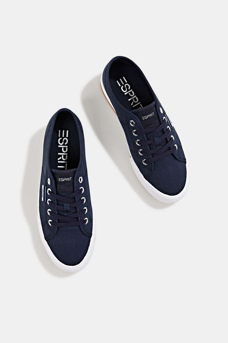 Cotton trainers, NAVY, detail image number 1