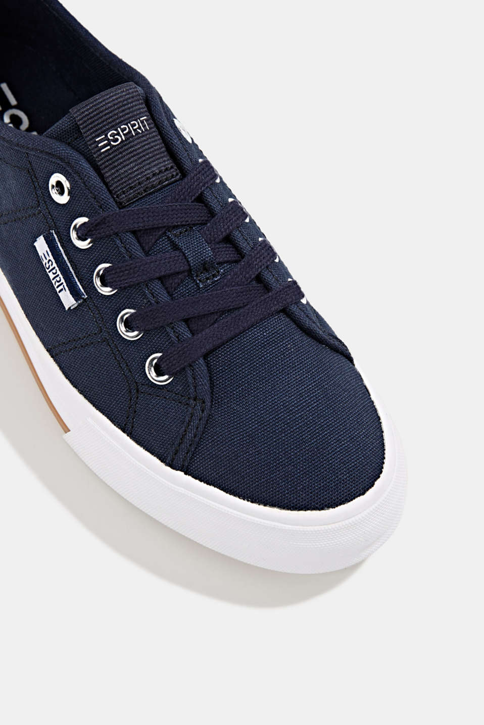 Cotton trainers, NAVY, detail image number 4