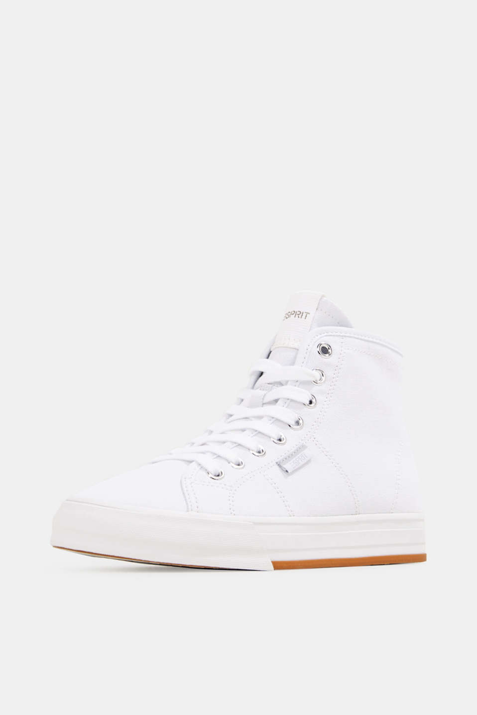 High-top cotton trainer, WHITE, detail image number 2