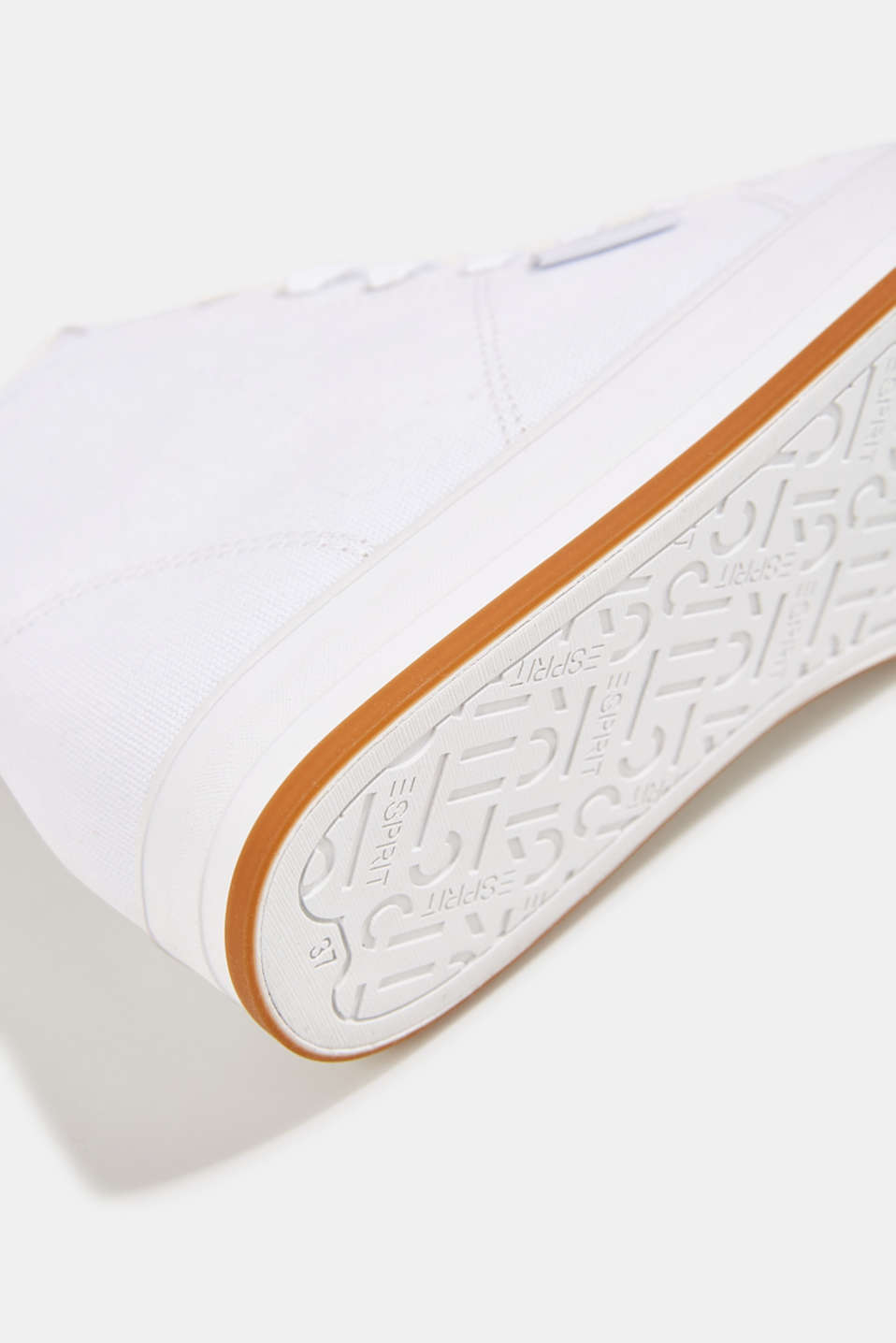 High-top cotton trainer, WHITE, detail image number 6