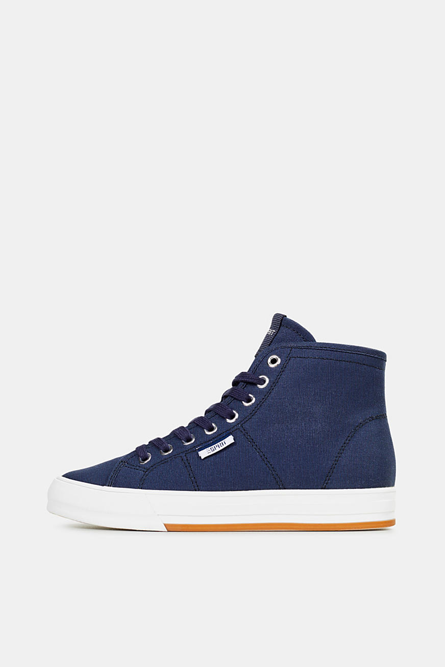 High top-sneakers af bomuld