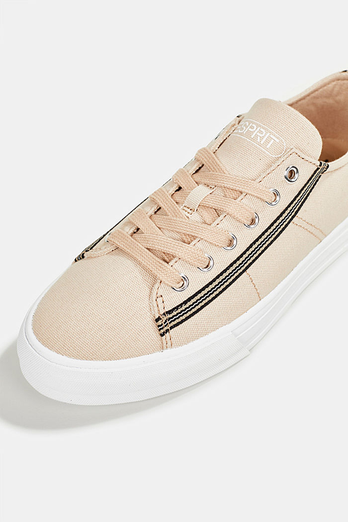 Canvas trainers, 100% cotton, SAND, detail image number 4