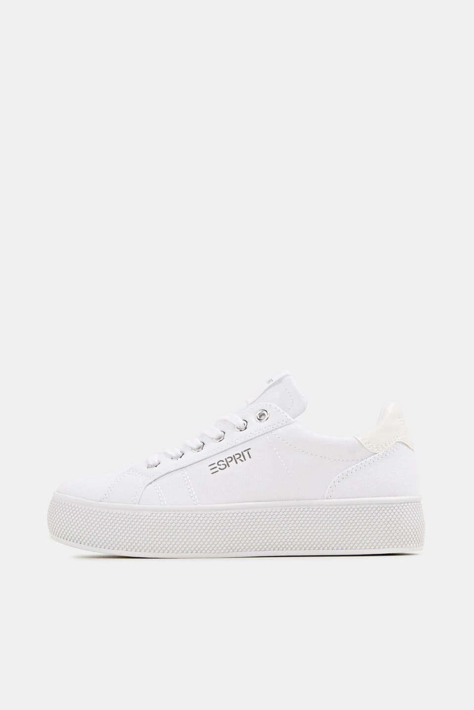 Trainers with a wide sole, WHITE, detail image number 0