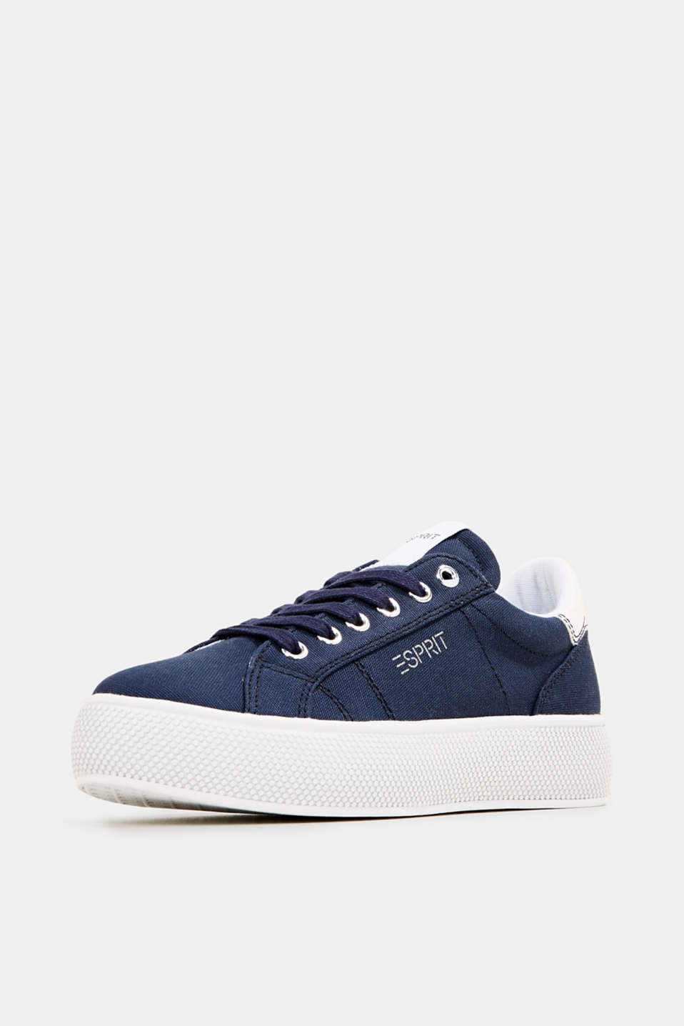 Trainers with a wide sole, NAVY, detail image number 2