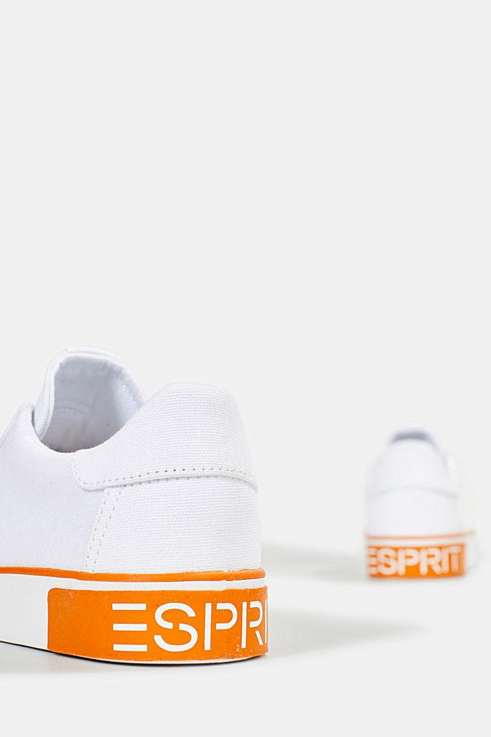 Canvas sneakers met logo op de zool, WHITE, detail image number 5