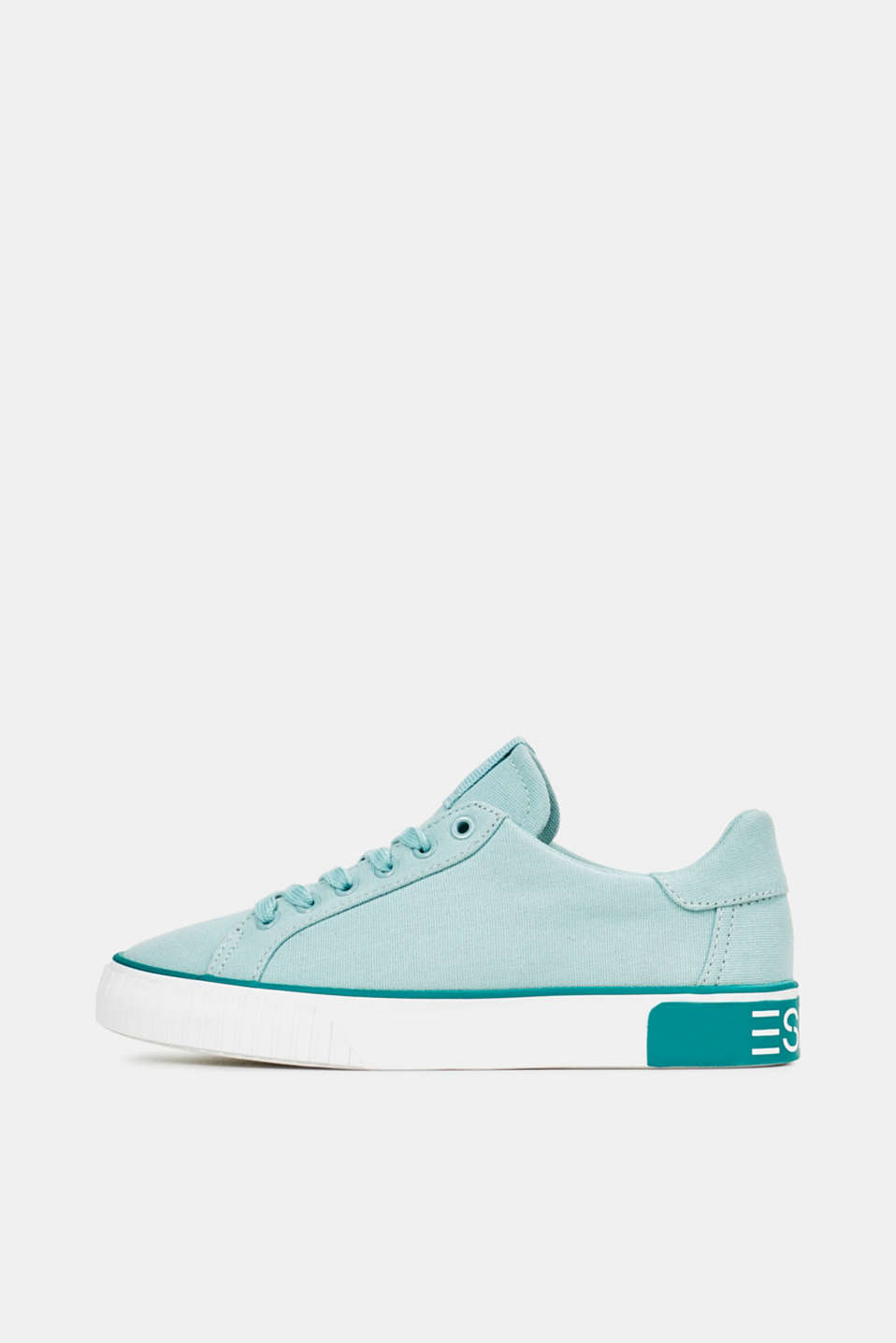 Esprit - Canvas trainers with a logo sole