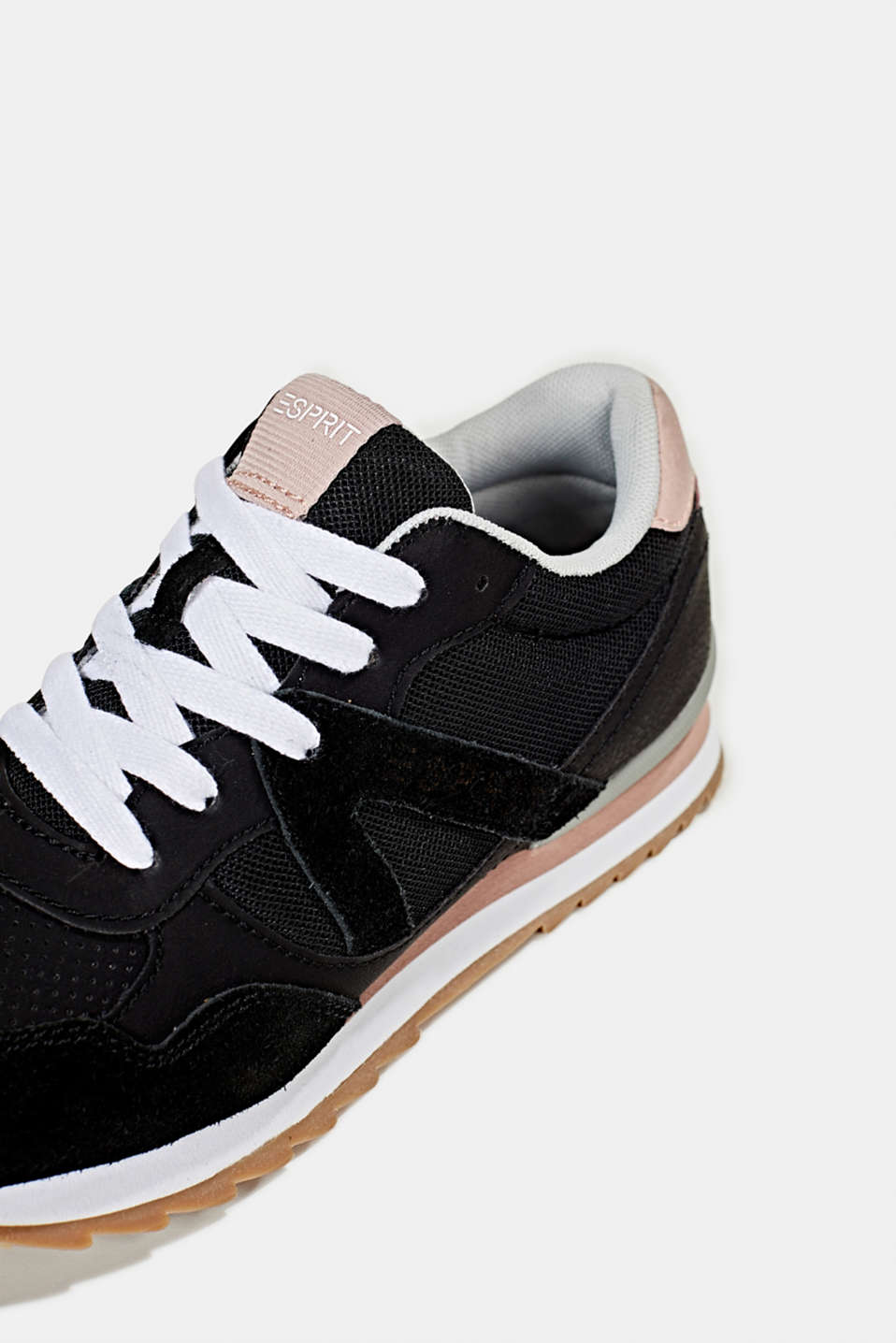 Fashion trainers in mixed materials, BLACK, detail image number 5