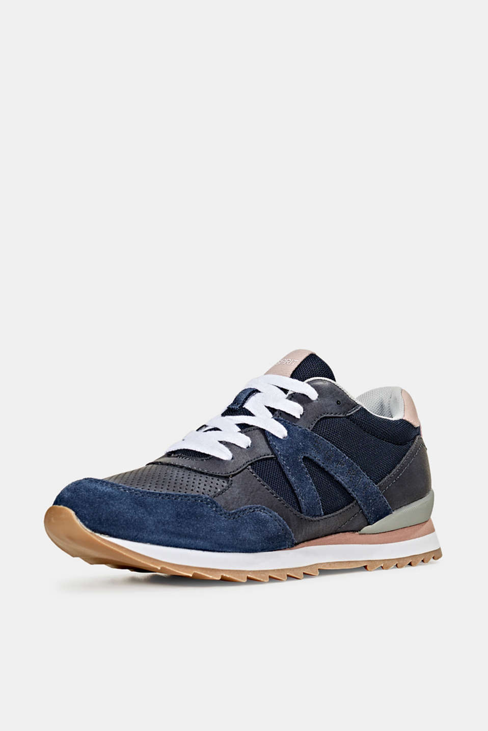 Fashion trainers in mixed materials, NAVY, detail image number 1