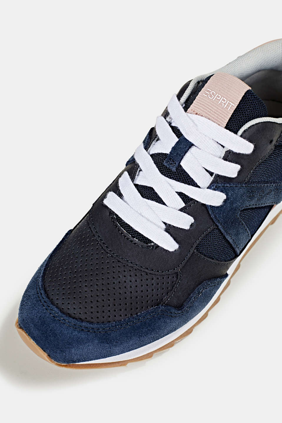 Fashion trainers in mixed materials, NAVY, detail image number 3