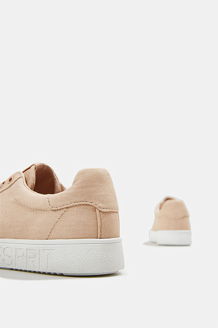 Canvas trainers, 100% cotton, SAND, detail image number 5