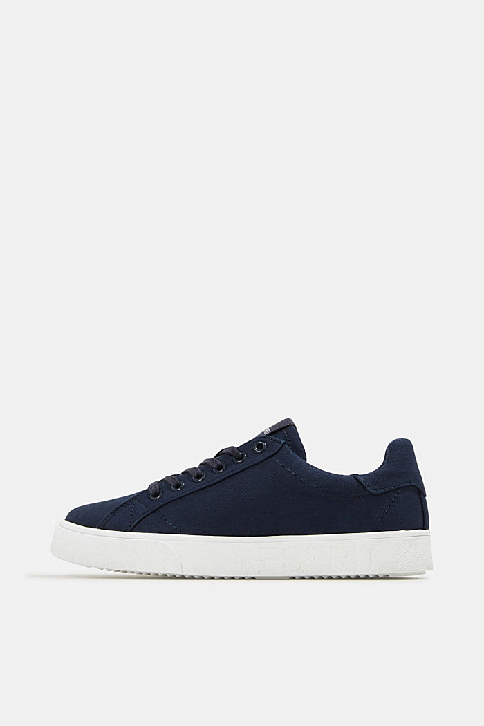 Canvas trainers, 100% cotton, NAVY, detail image number 0