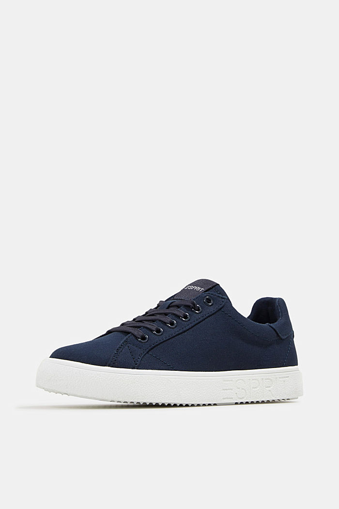 Canvas trainers, 100% cotton, NAVY, detail image number 2