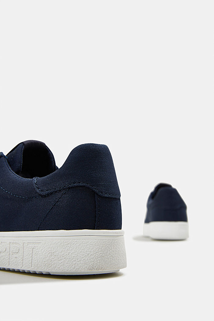Canvas trainers, 100% cotton, NAVY, detail image number 5