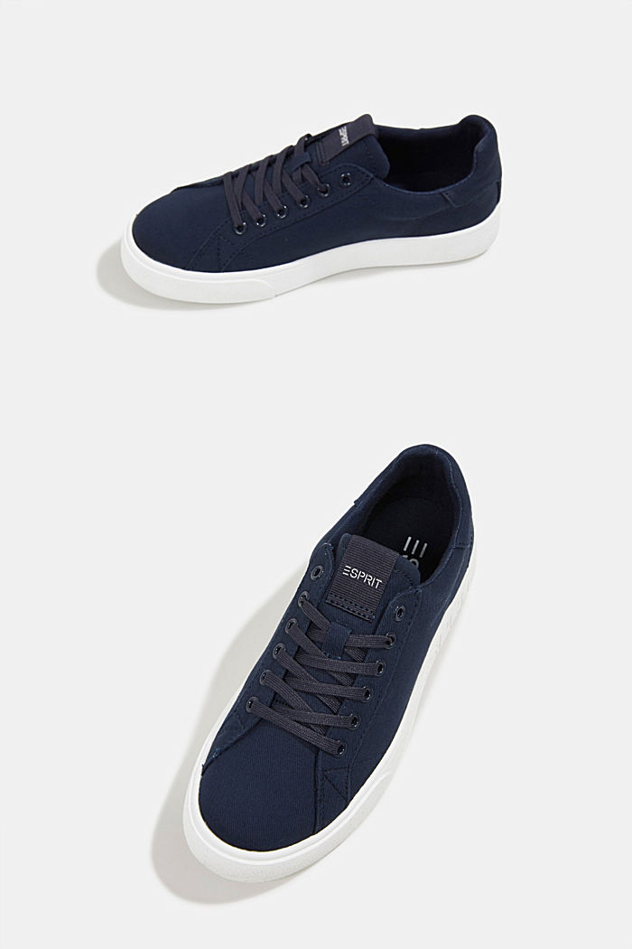Canvas trainers, 100% cotton, NAVY, detail image number 6