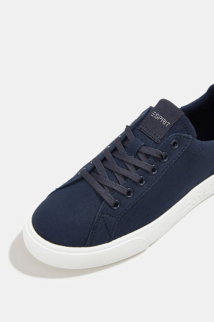 Canvas trainers, 100% cotton, NAVY, detail image number 4