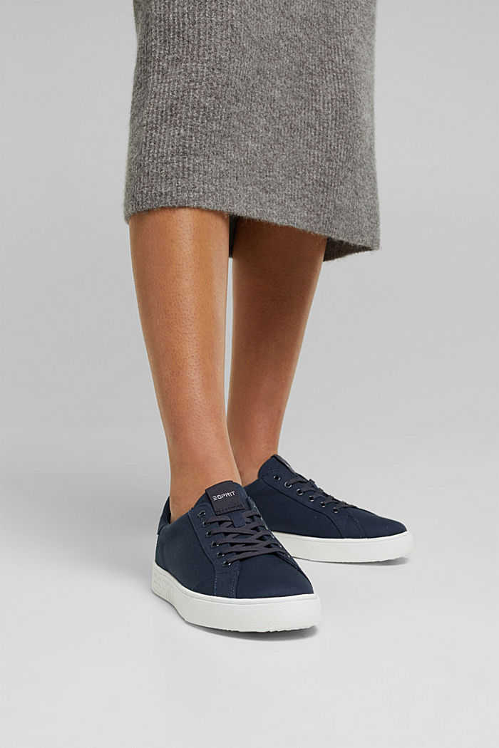 Canvas trainers, 100% cotton, NAVY, detail image number 3