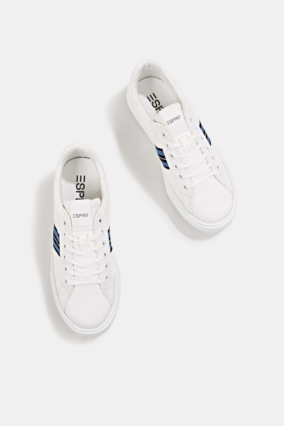 Retro trainers with stripe detail, WHITE, detail image number 1