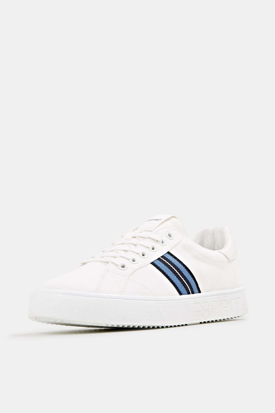 Retro trainers with stripe detail, WHITE, detail image number 2