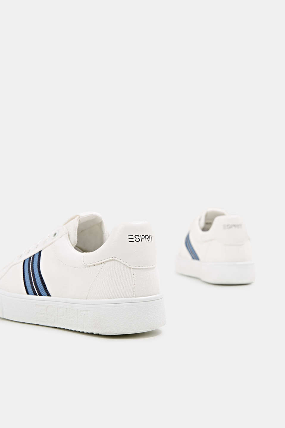 Retro trainers with stripe detail, WHITE, detail image number 5