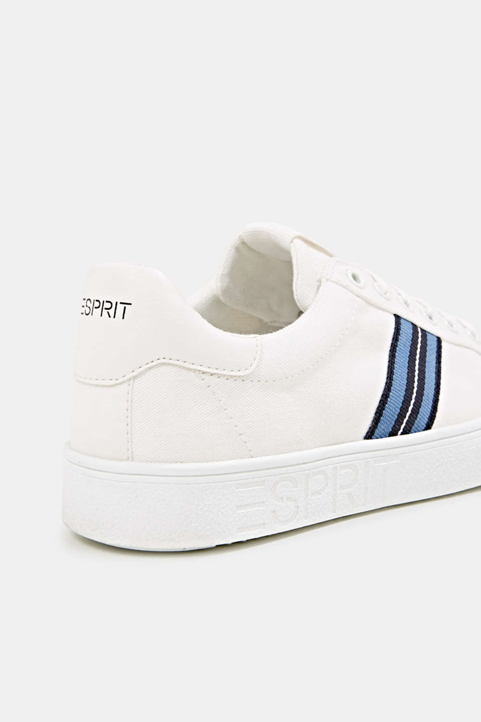 Retro trainers with stripe detail, WHITE, detail image number 4