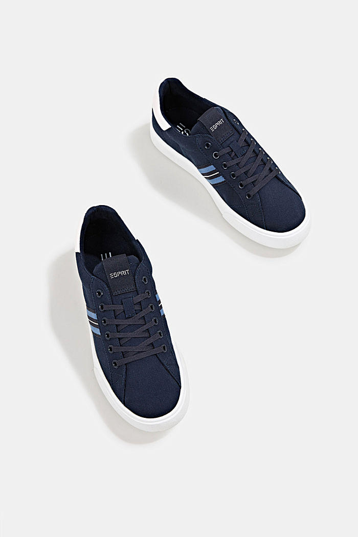 Retro trainers with stripe detail, NAVY, detail image number 1