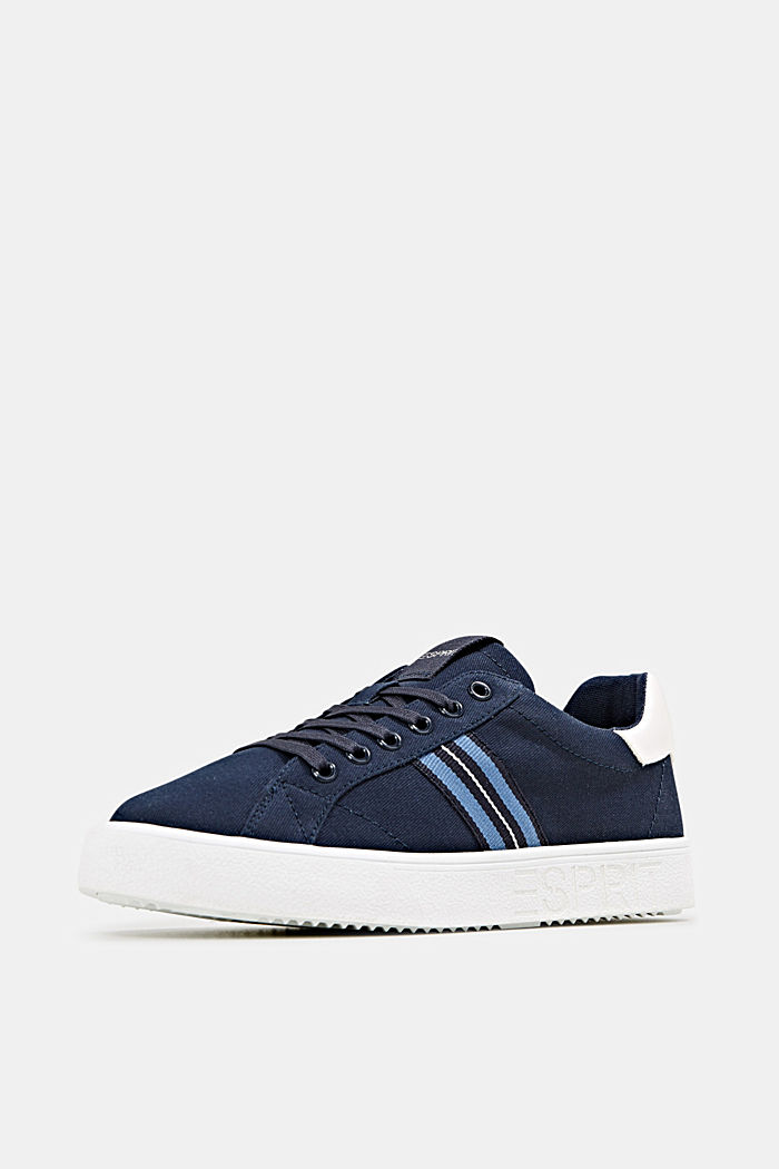 Retro trainers with stripe detail, NAVY, detail image number 2