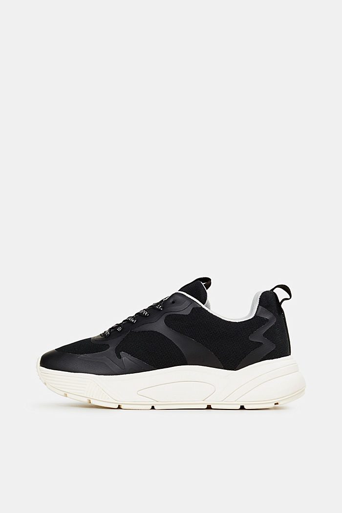 Trainers with an oversized sole, BLACK, detail image number 0