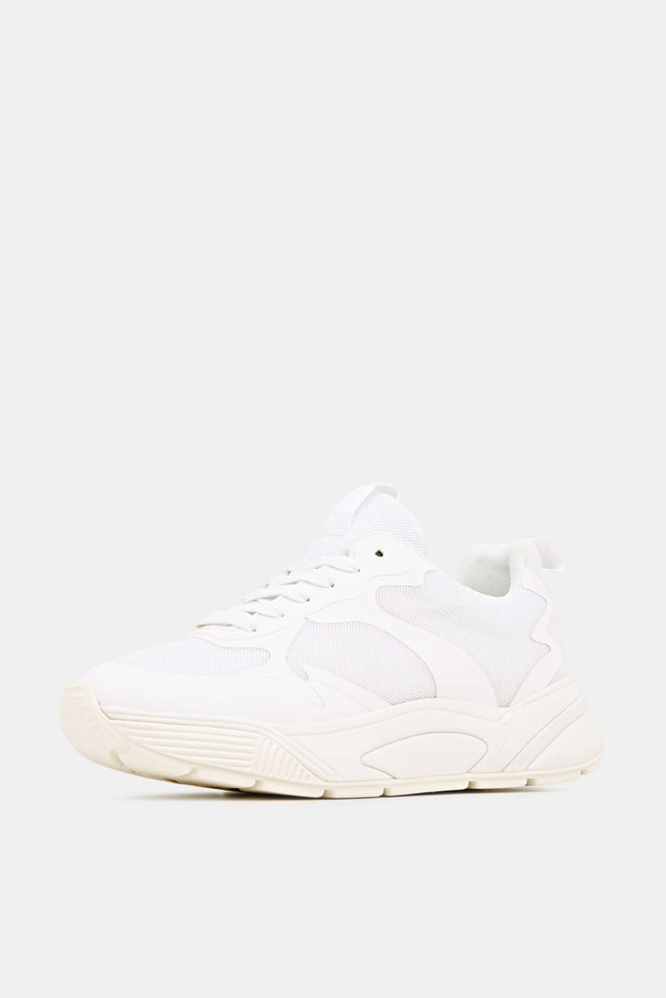 Trainers with an oversized sole, WHITE, detail image number 2