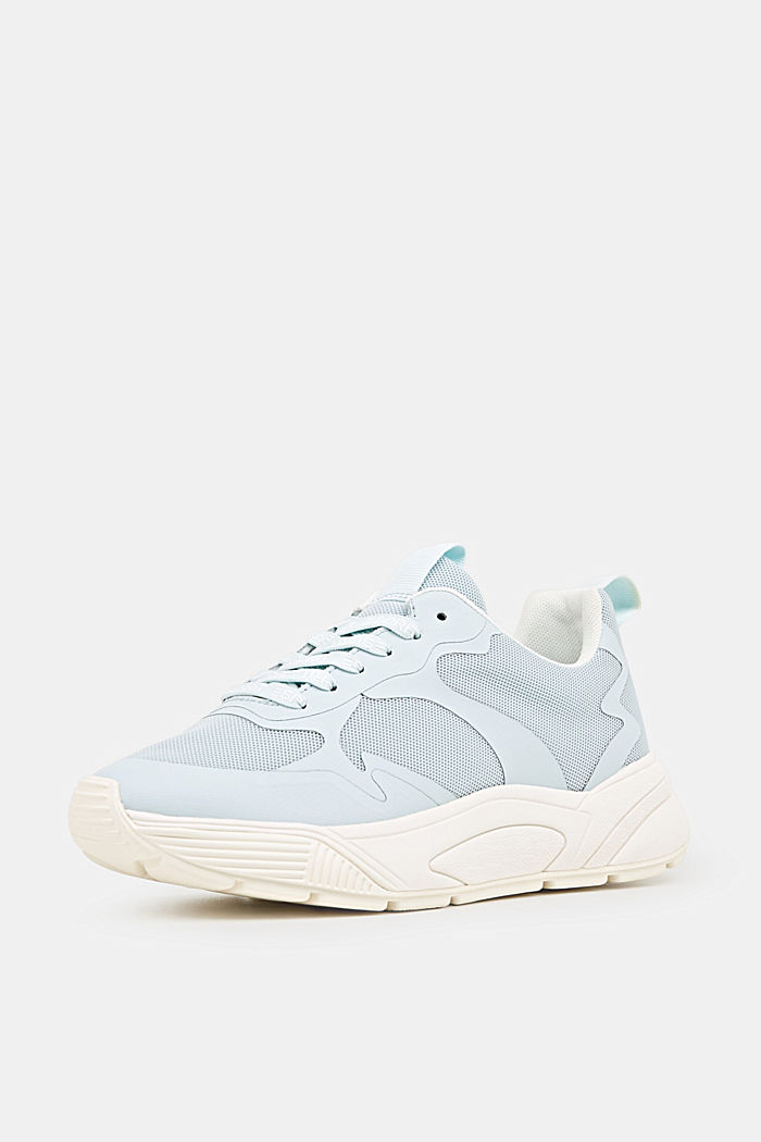 Sneaker mit Oversized-Sohle, LIGHT AQUA GREEN, detail image number 2