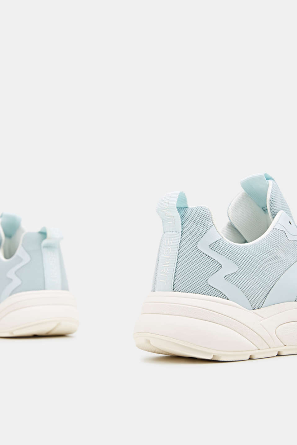 Trainers with an oversized sole, LIGHT AQUA GREEN, detail image number 4