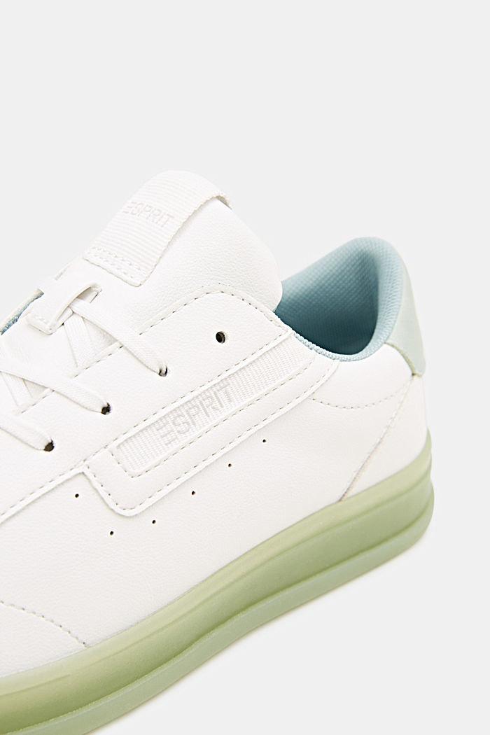 Faux leather trainers, LIGHT AQUA GREEN, detail image number 5