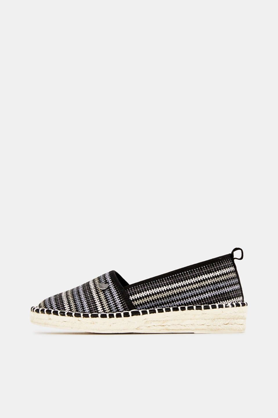 Esprit - Espadrilles with textured stripes