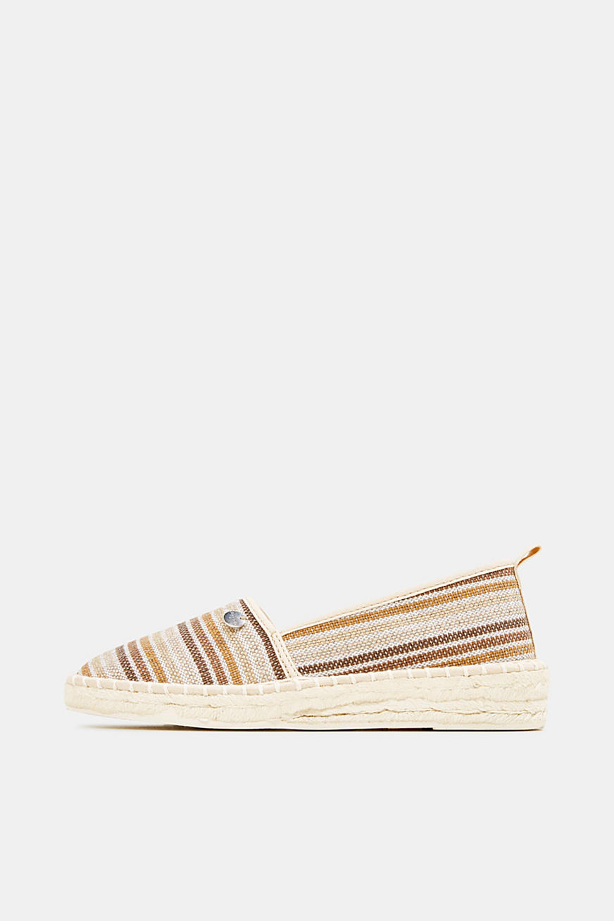 Espadrilles with textured stripes
