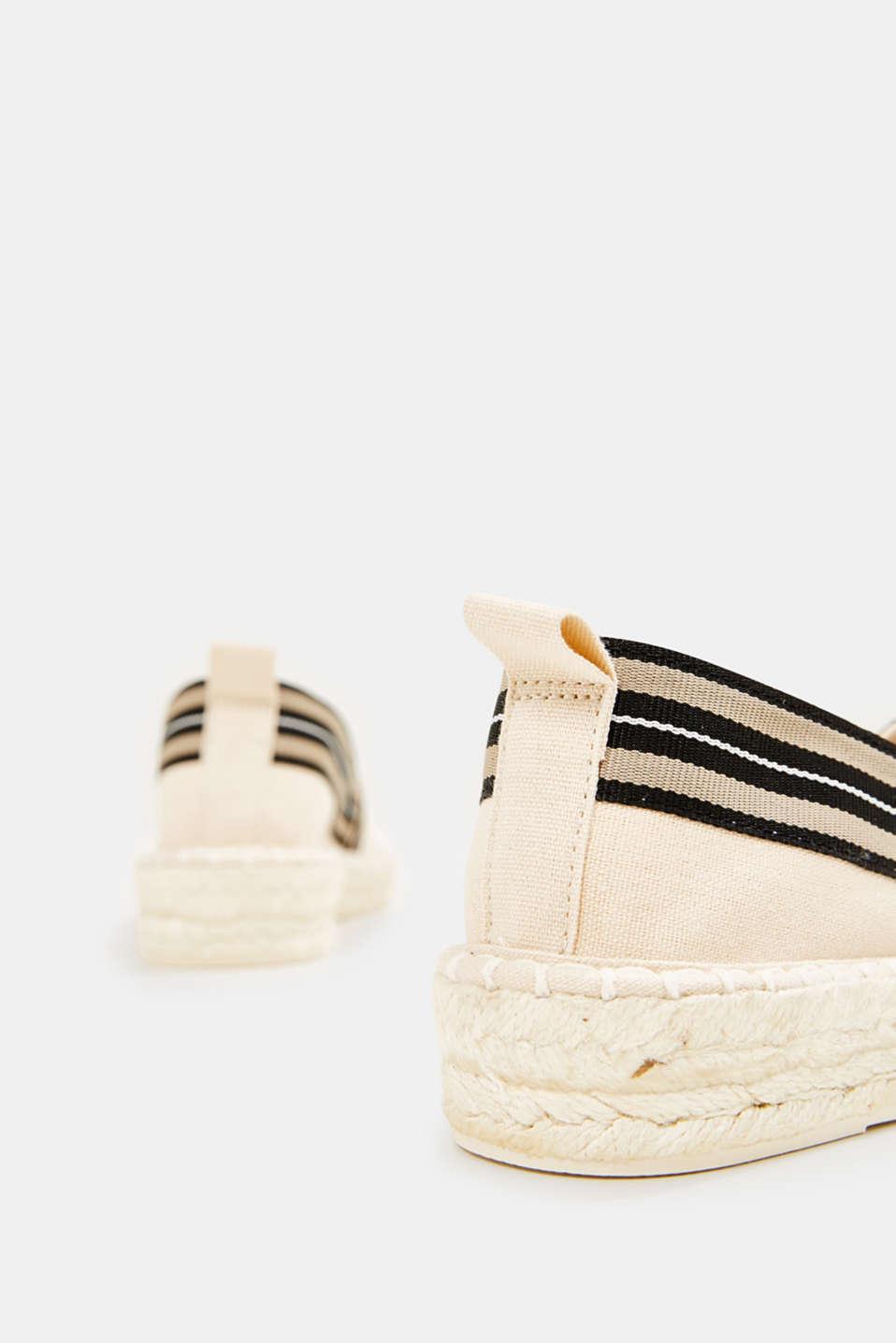 Espadrilles with striped details, CREAM BEIGE, detail image number 4