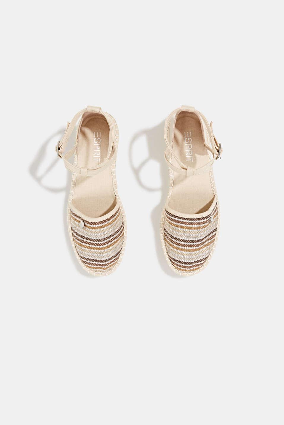 Espadrille sandals with stripes, CREAM BEIGE, detail image number 1