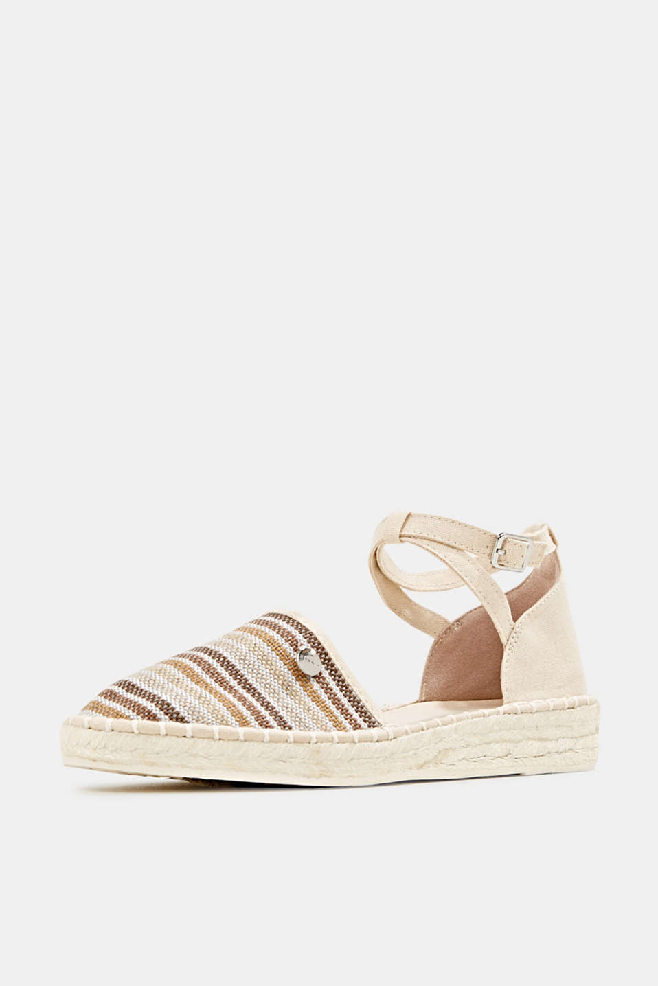 Espadrille sandals with stripes, CREAM BEIGE, detail image number 2