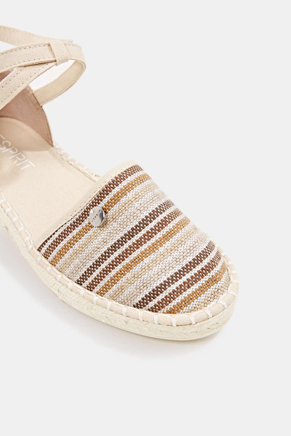 Espadrille sandals with stripes, CREAM BEIGE, detail image number 4