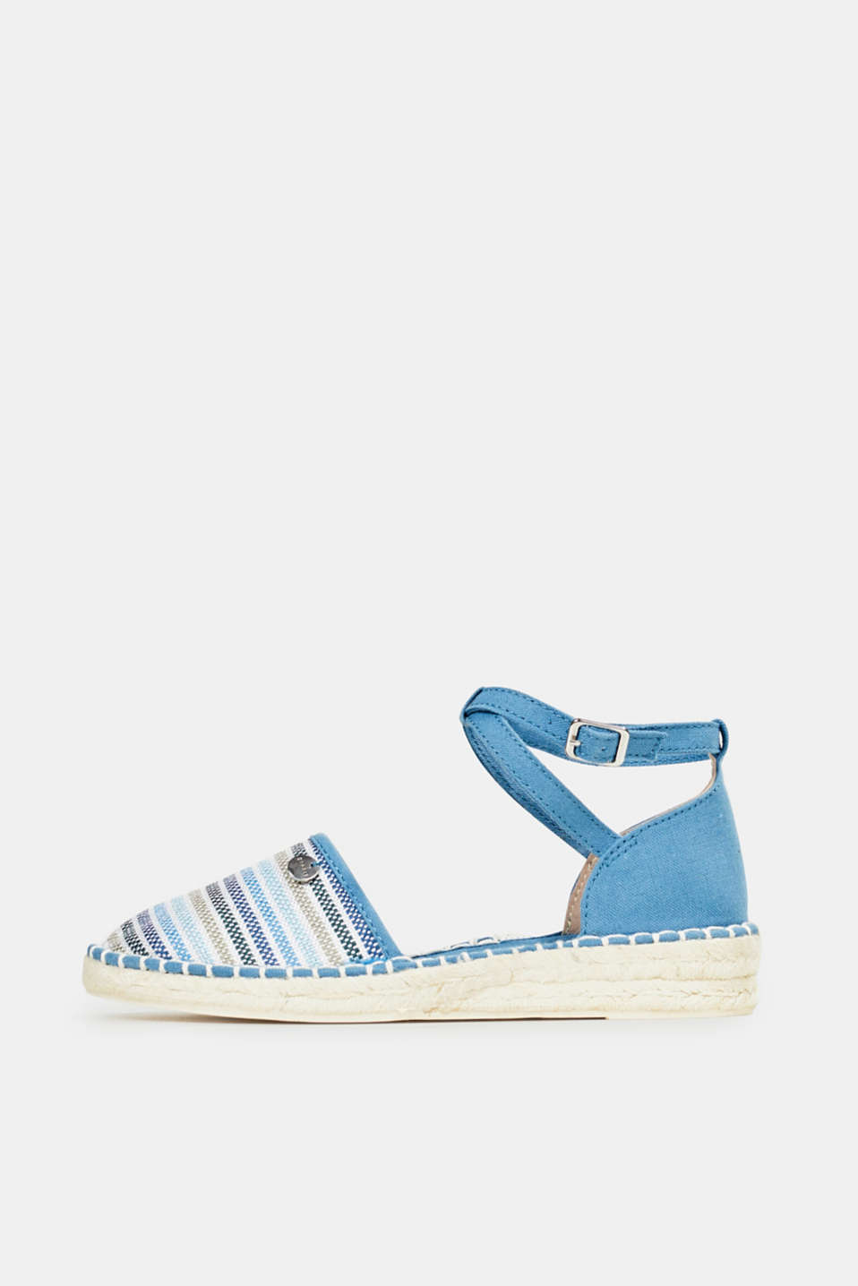 Espadrille sandals with stripes, GREY BLUE, detail image number 0