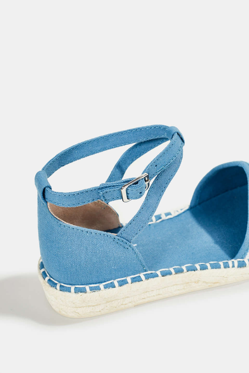 Espadrille sandals with stripes, GREY BLUE, detail image number 5