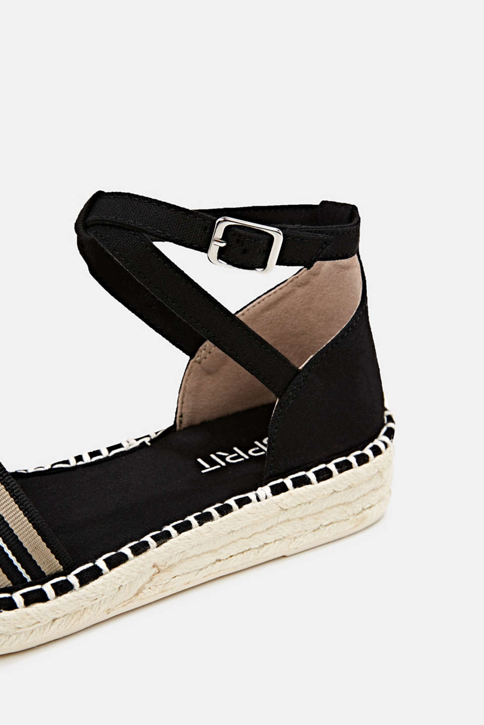 Espadrilles with an ankle strap, BLACK, detail image number 5