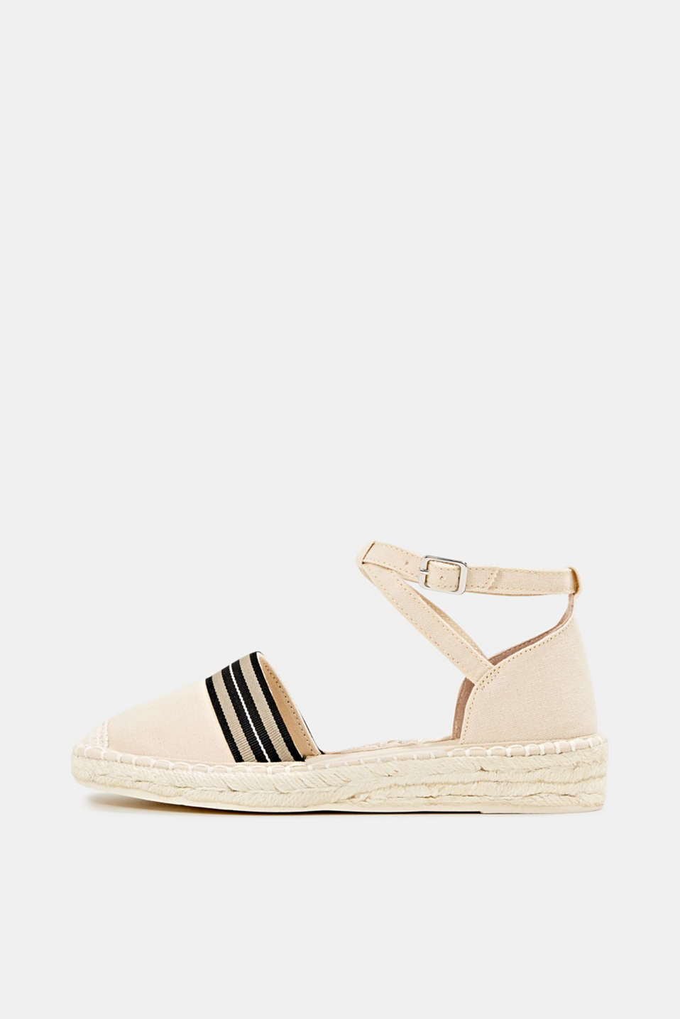 Espadrilles with an ankle strap, CREAM BEIGE, detail image number 0