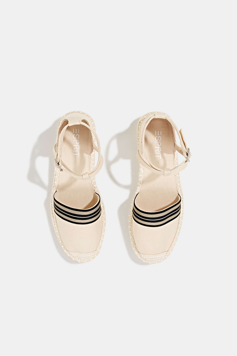 Espadrilles with an ankle strap, CREAM BEIGE, detail image number 1