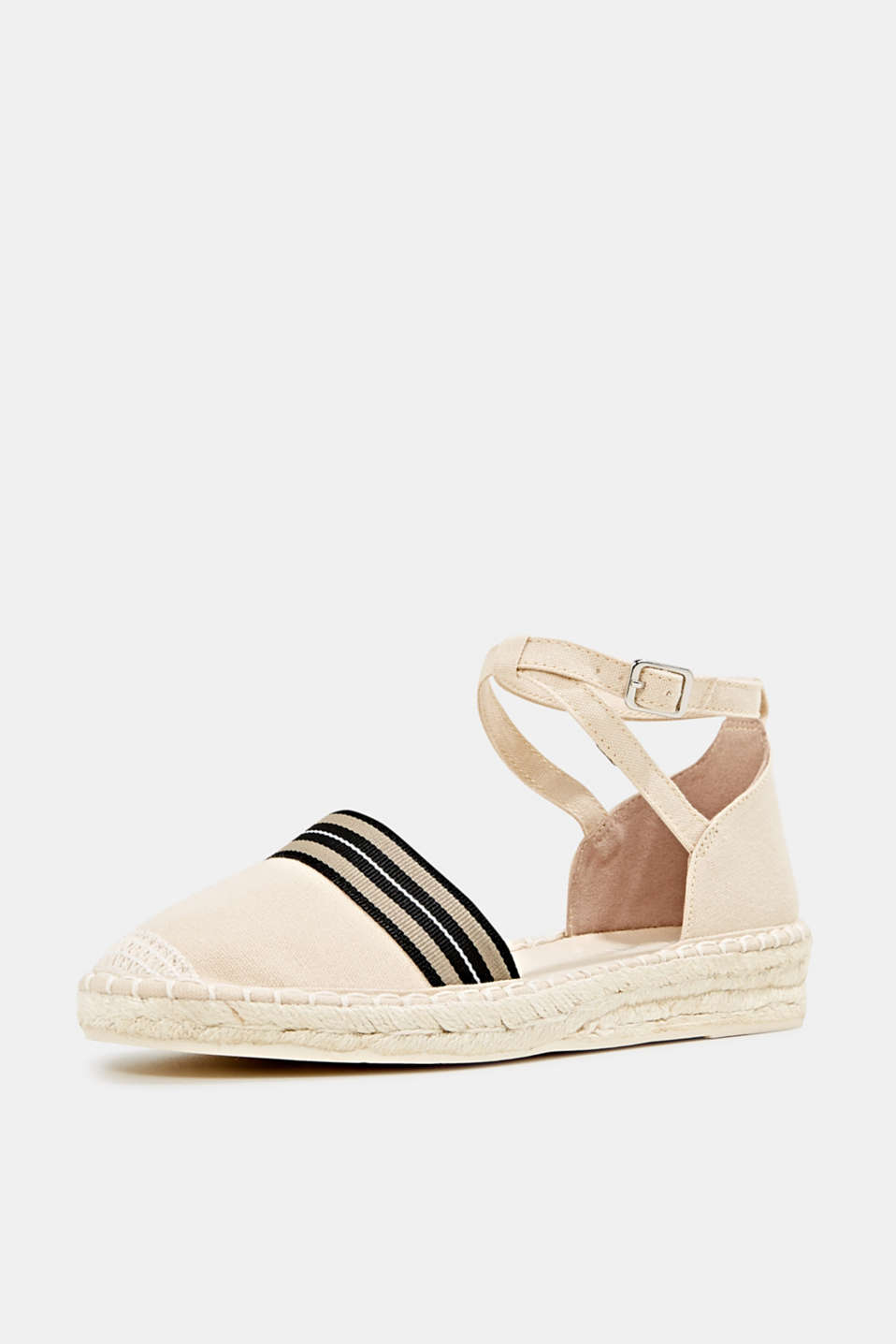 Espadrilles with an ankle strap, CREAM BEIGE, detail image number 2