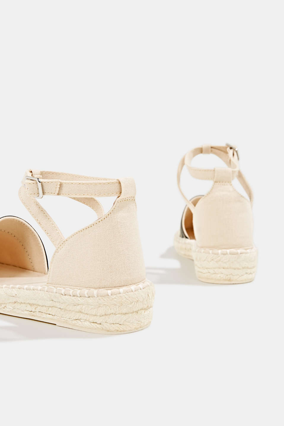 Espadrilles with an ankle strap, CREAM BEIGE, detail image number 5