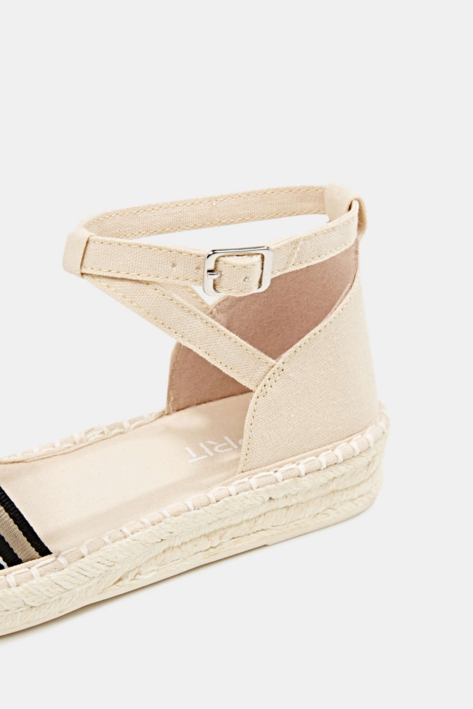 Espadrilles with an ankle strap, CREAM BEIGE, detail image number 6