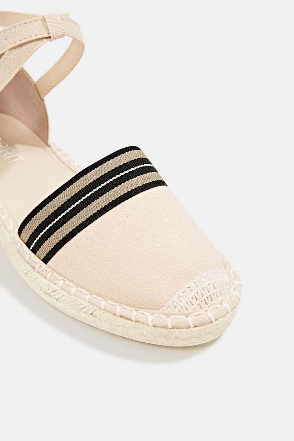 Espadrilles with an ankle strap, CREAM BEIGE, detail image number 4