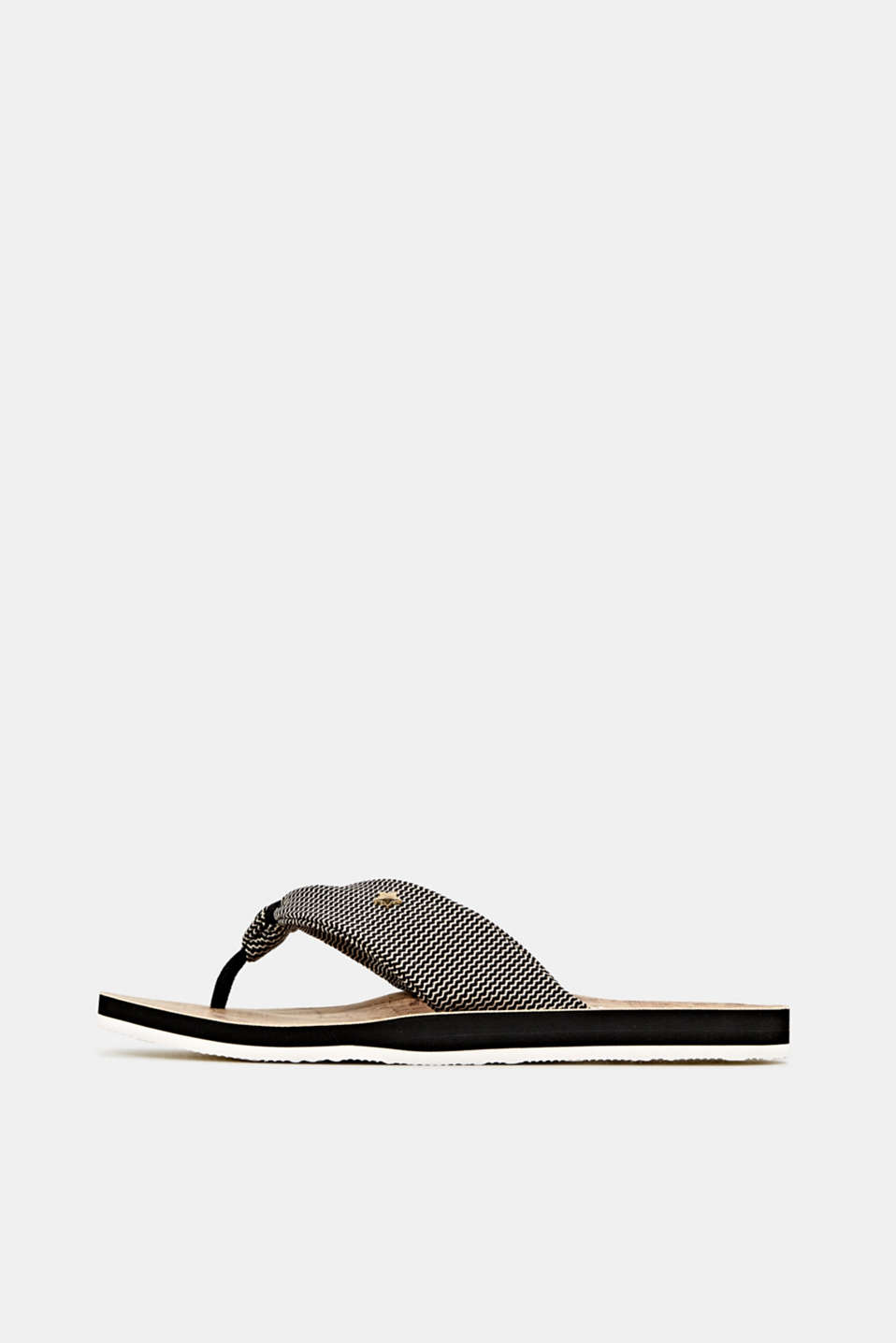 Esprit - Thong sandals with a woven texture
